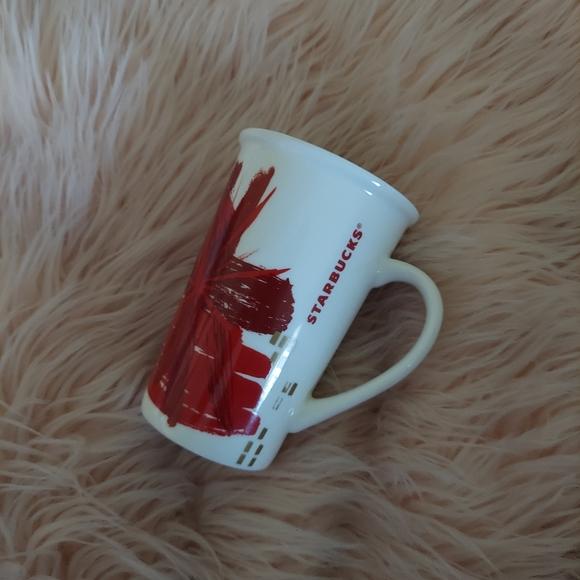 Starbucks Red Flower Mug